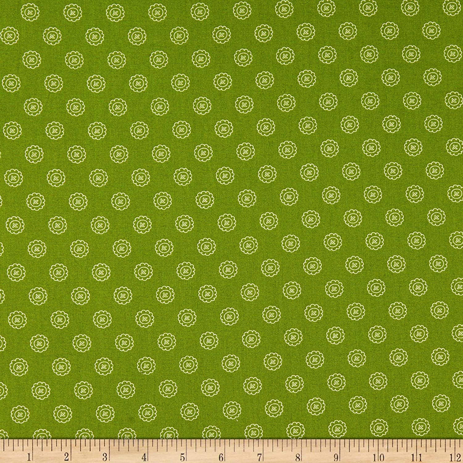 Maywood Studio Spellcaster's Garden Single Button Green Quilt Fabric By The Yard