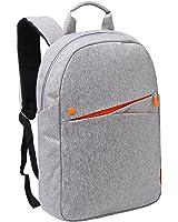 16 inch Slim Business Laptop Work & Travel Backpack, Light Gray