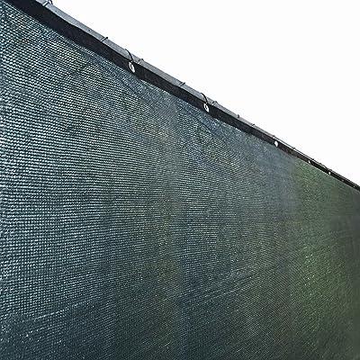 ALEKO PLK0850GR Fence Privacy Screen Outdoor Backyard Fencing Windscreen Shade Cover Mesh Fabric with Grommets 8 x 50 Feet Dark Green : Garden & Outdoor