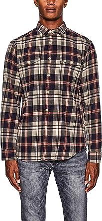 Esprit 097ee2f004 Camisa, Verde (Olive 360), Large para Hombre: Amazon.es: Ropa y accesorios