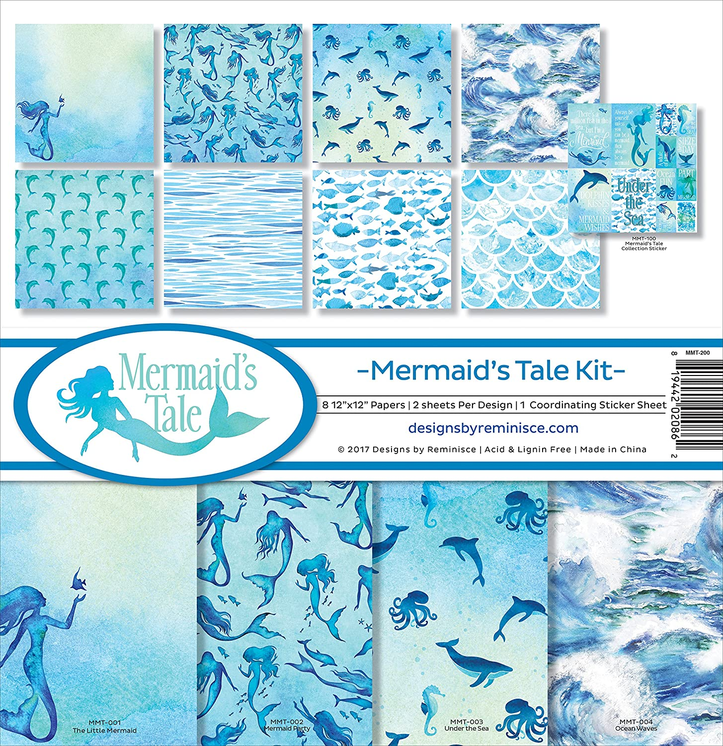 Reminisce Mermaids Tale Scrapbook Collection Kit