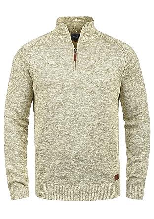 Blend Danovan Herren Strickpullover Troyer Feinstrick Pullover Mit  Stehkragen Und Reißverschluss, Größe S, 0acede46f1