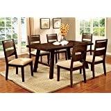 Furniture of America Zaria 7-Piece Industrial Dining Set