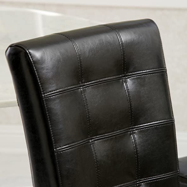 Best-selling Clayton Leather Dining Chair, Black, Set of 2