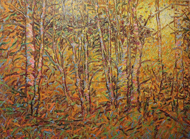 Sergey Kirillov 2016 (140cm x 190cm) キャンバス生地に描かれたオリジナル油絵、「秋の夜」   B07HKN9PRG