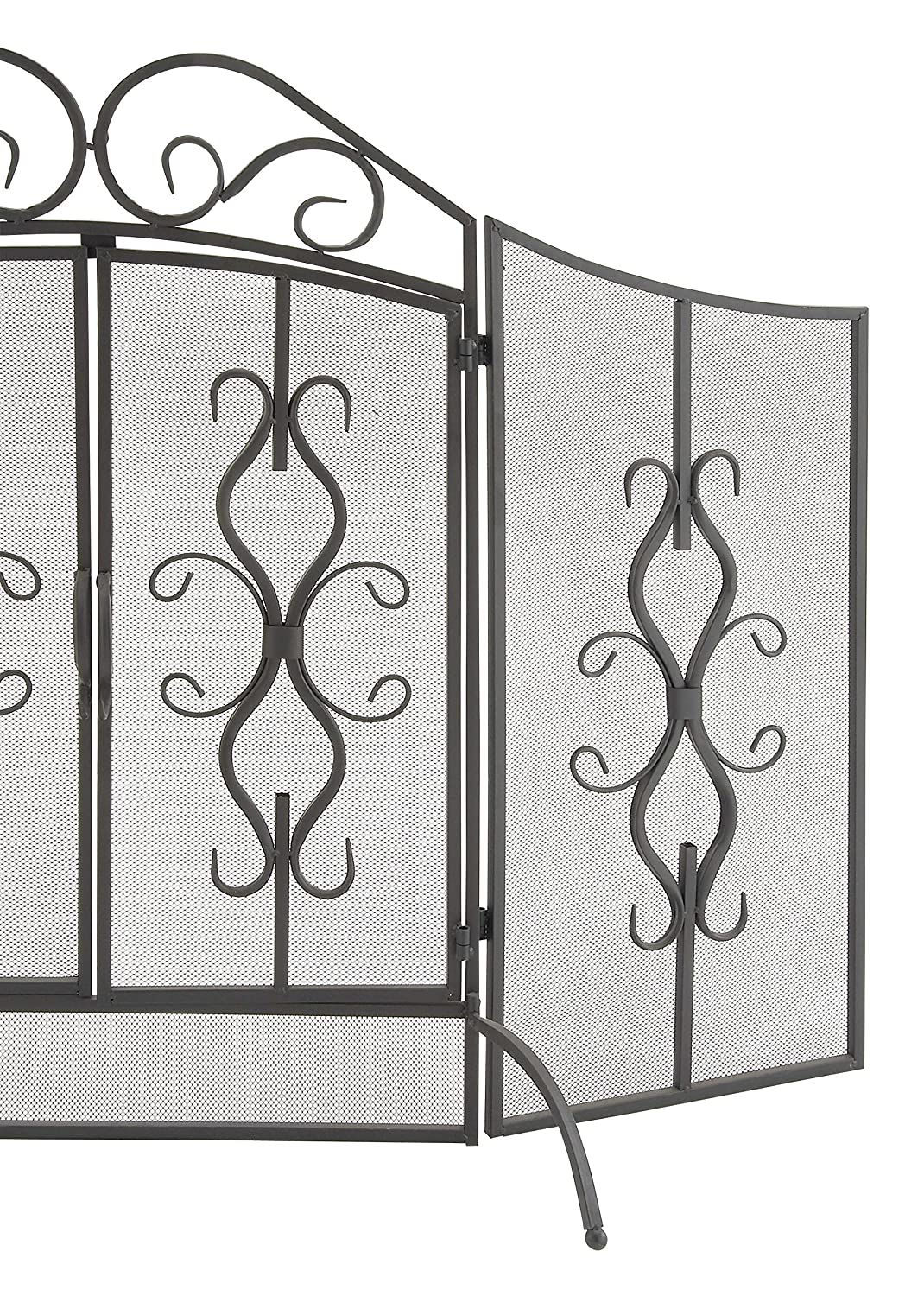 amazon com deco 79 metal fire screen 60 by 40 inch home u0026 kitchen
