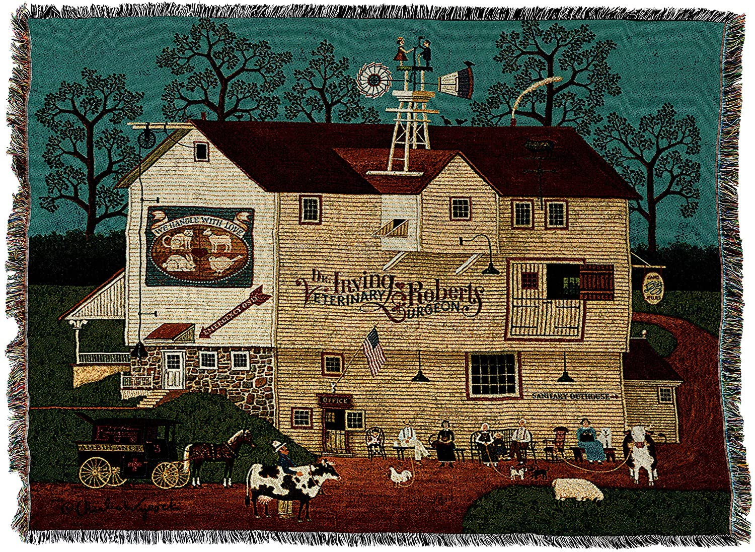 Next Tapestry Throw Blanket by Artist Charles Wysocki B071NHQK43