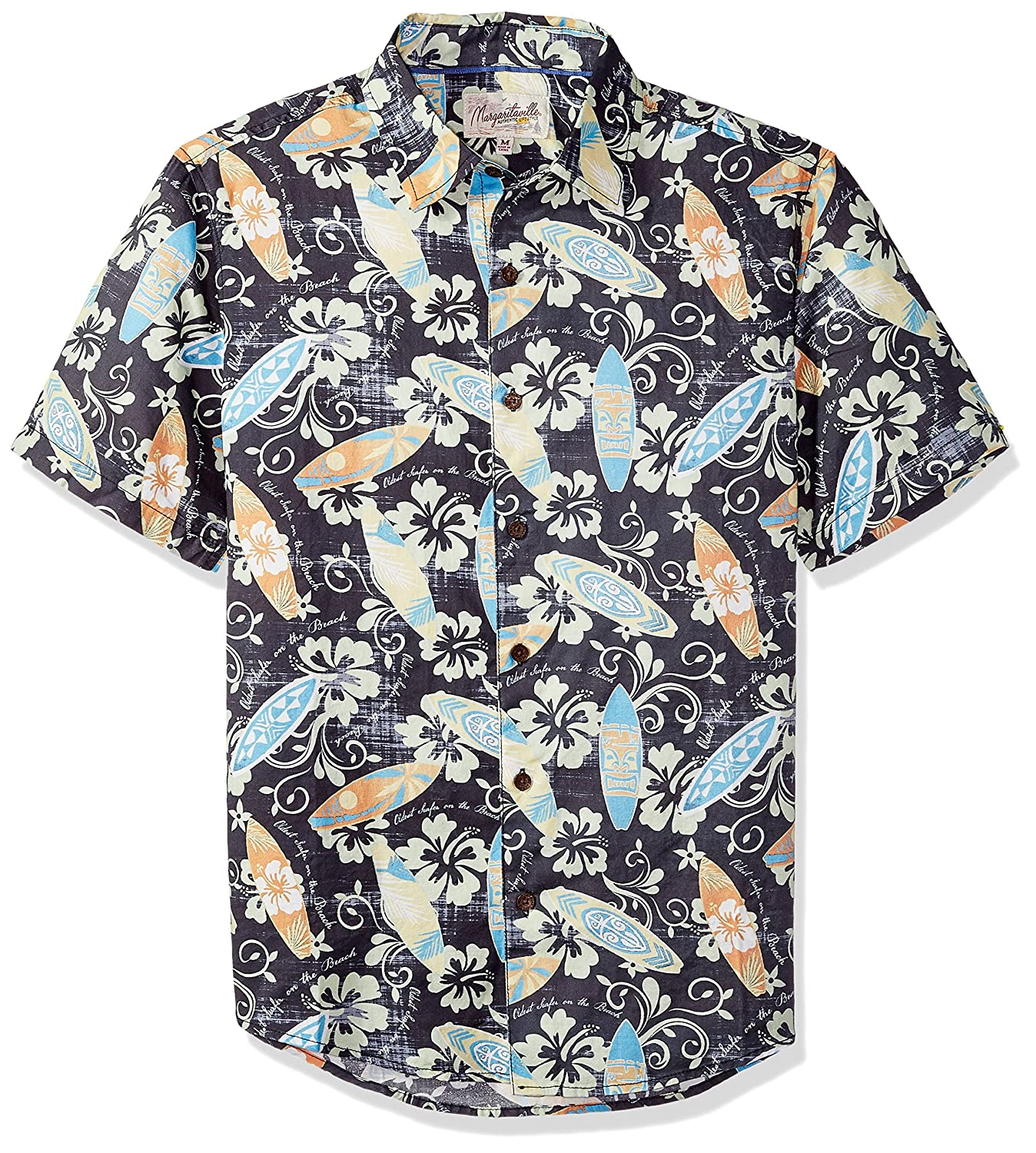 Margaritaville Men s Short Sleeve Paradise Print Cotton BBQ Shirt at Amazon Men s Clothing store