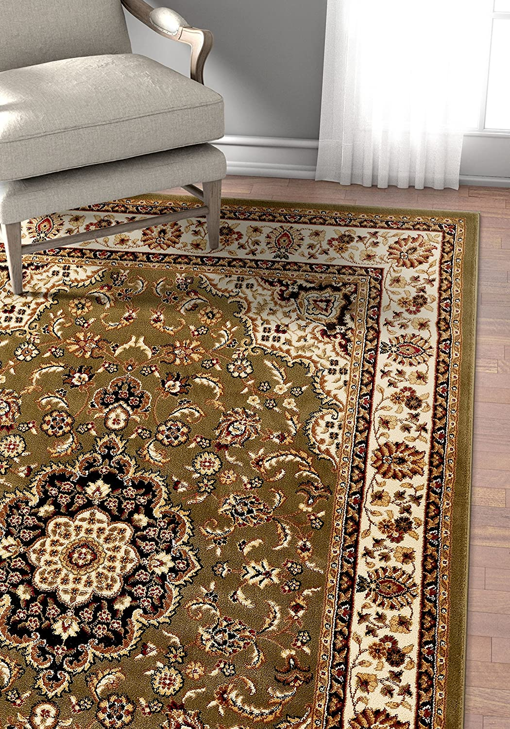 Well Woven Barclay Medallion Kashan Red Traditional Area Rug 2'3 X 3'11 Well Woven --DROPSHIP 541003