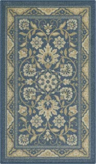 product image for Maples Rugs Florence Kitchen Rugs Non Skid Accent Area Carpet [Made in USA], 1'8 x 2'10, Blue