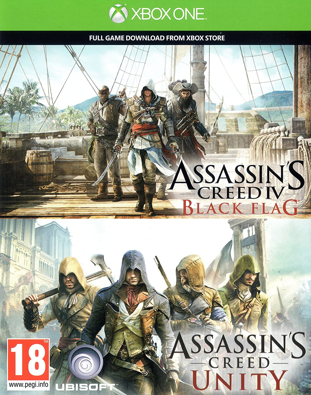 Assassins Creed Unity AND Assassins Creed IV Black Flag Digital ...