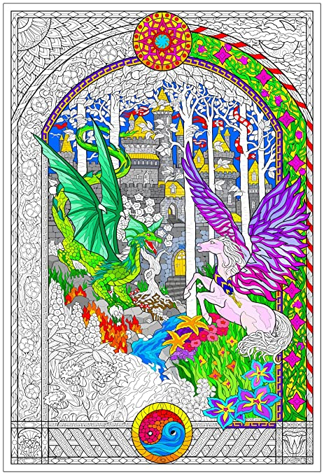 Stuff2Color The Key - Giant Coloring Poster (32½ x 22 Inches) - Great for  Kids, Adults, Classrooms, Care Facilities and Families