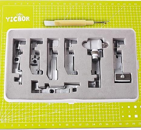 YICBOR – Juego de 7 prensatelas para máquinas de coser Singer ...