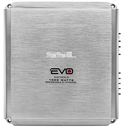 Sound Storm EVO1000 2 EVO 1000 Watt, 2 Channel, 2 to 8 Ohm Stable Class  A/B, Full Range, Bridgeable, MOSFET Car Amplifier with Remote Subwoofer
