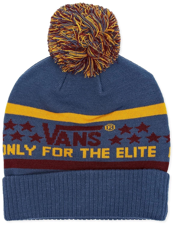 c984933d Vans Men's Elite Beanie, Multicoloured (Burgundy/Ensign Blue), One ...