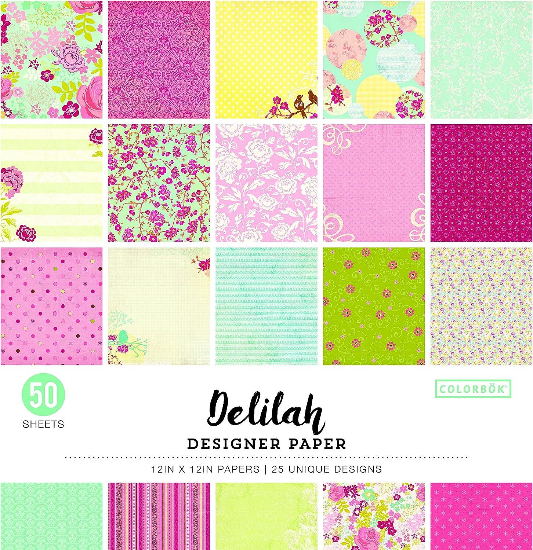 "ColorBok 68230C Designer Paper Pad Delilah, 12"" x 12"