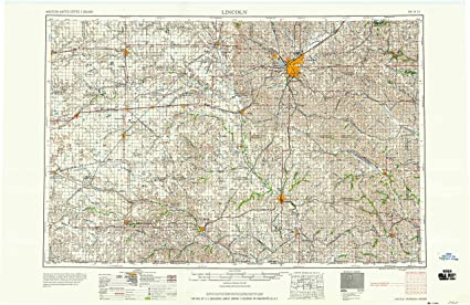 Amazon.com : YellowMaps Lincoln NE topo map, 1:250000 Scale ...