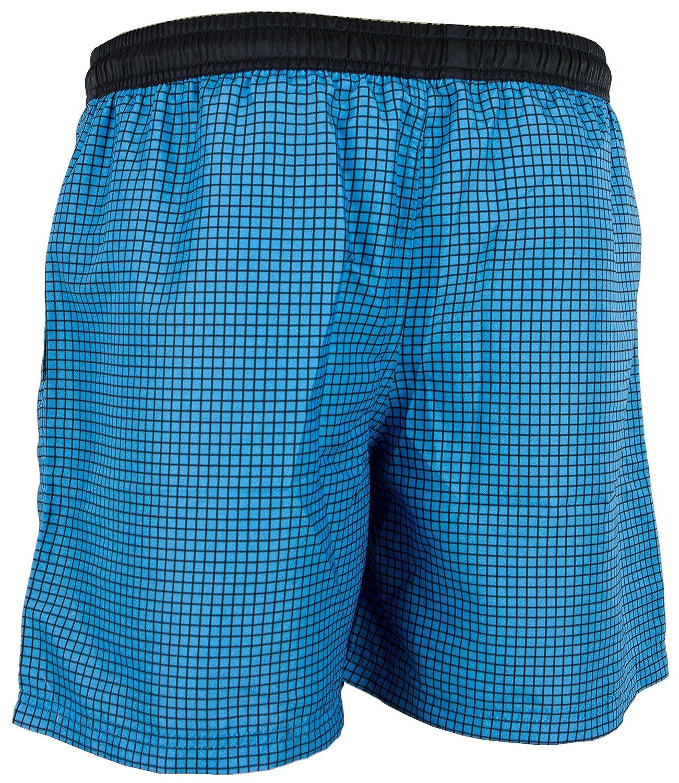 854f53b89 GUGGEN Banador de Natacion para Hombre Traje de Bano Checked *Azul Lila*  Ropa de baño
