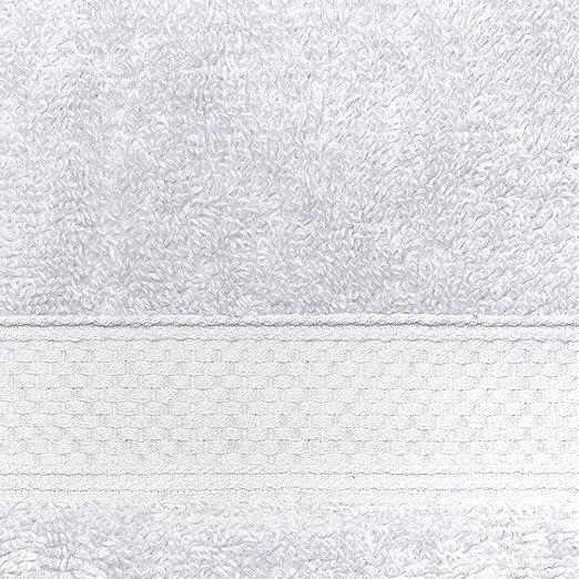 Welhome 100% algodón conjunto 8 pieza toalla (blanco); 2 toallas de baño, 2 toallas de mano y 4 Estropajos, lavable a máquina: Amazon.es: Hogar