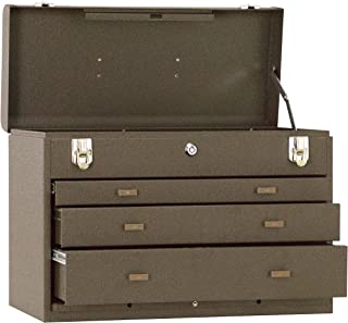 """product image for Kennedy Manufacturing 620B 20"""" 3-Drawer Machinists' Steel Tool Storage Chest, Tan Brown Wrinkle"""