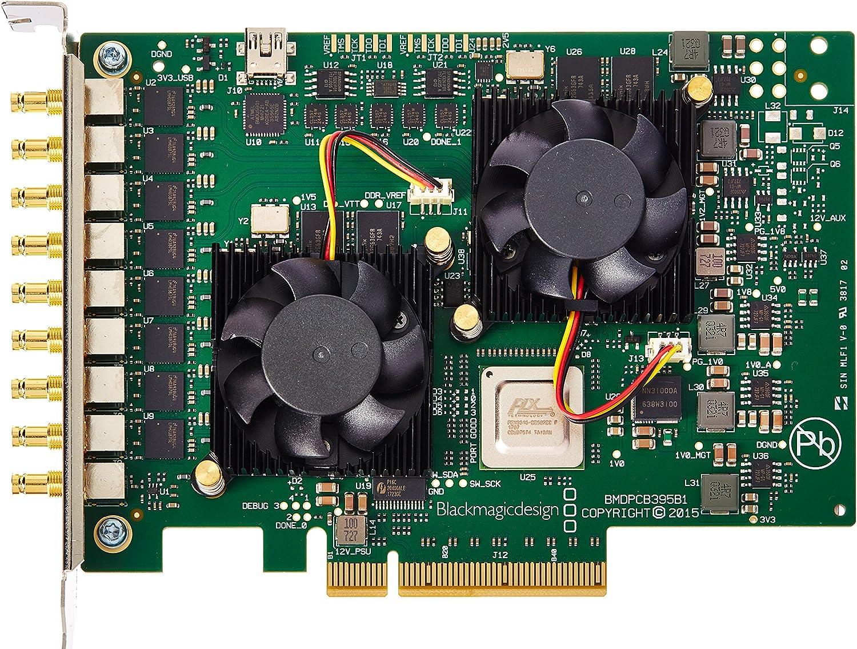 Blackmagic Design 563980Z-12 DeckLink Quad 2 8-Channel 3G-SDI Capture and Playback Card, 720p/1080p Cross-Conversion