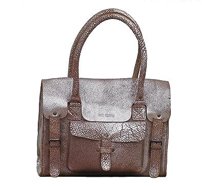 LE RIVE GAUCHE M Brique Argenté sac bandoulière cuir de buffle pleine fleur style vintage PAUL MARIUS gUblxn