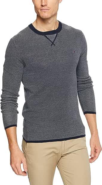 Tommy Hilfiger Men's Fineliner Striped Crew Neck Sweater