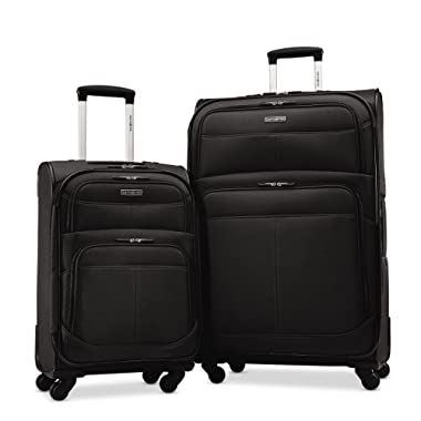 Samsonite Upspin Lightweight Softside Set (21 /29 ), Only at Amazon, Black