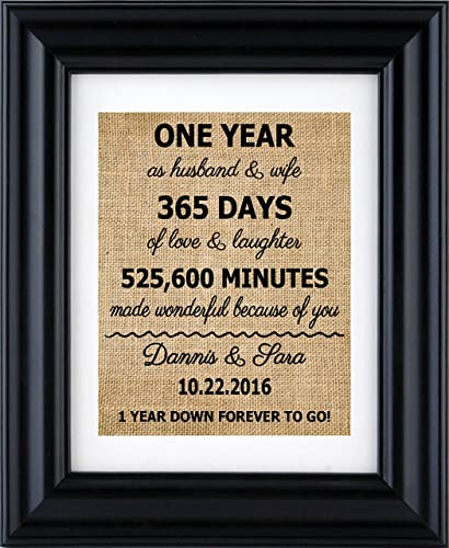 Personalized Anniversary Gift For 1st10th20th30th Wedding 1st