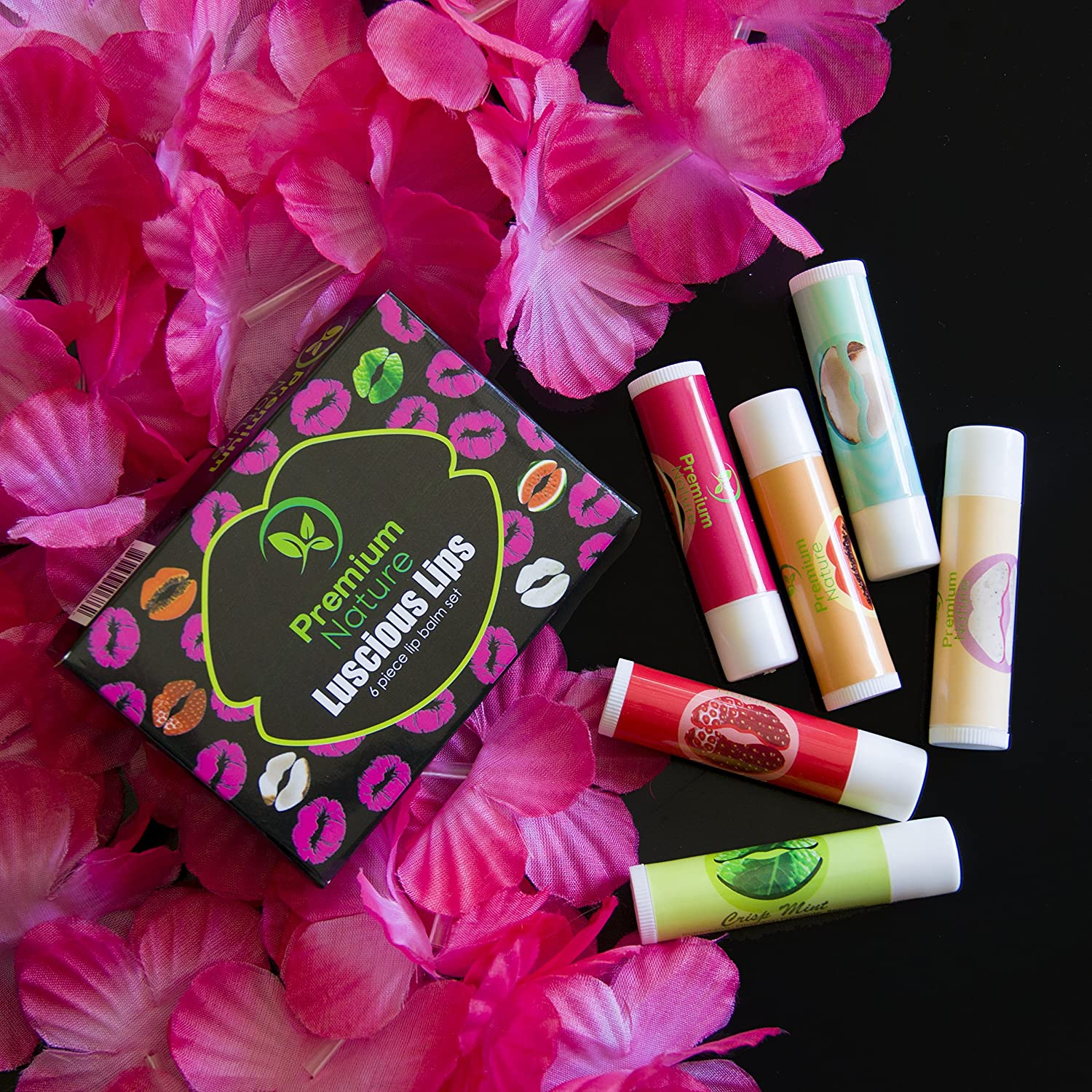 Amazon.com: Lip Balm Variety Gift Set - 6 Assorted Flavors Mint ...