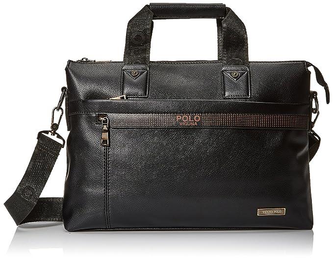451d4959a839 VICUNA POLO Business Man Briefcase Dot Design Mens Handbags Shoulder Bags( black)