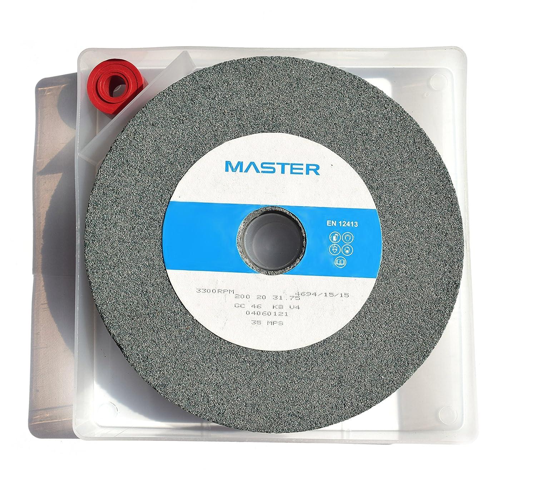 MASTER® Grinding Wheel 200 x 20 x 31.75mm GC46 K8V - with storage box Master Abrasives