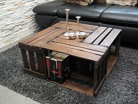 Tavolini Da Salotto In Legno Usati : Tavolino da salotto in usate vino casse 100% upcycling: amazon.it