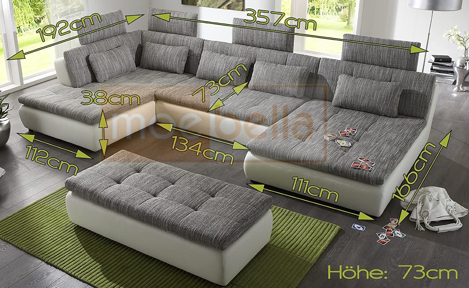 schlafsofa ecksofa leder. Black Bedroom Furniture Sets. Home Design Ideas