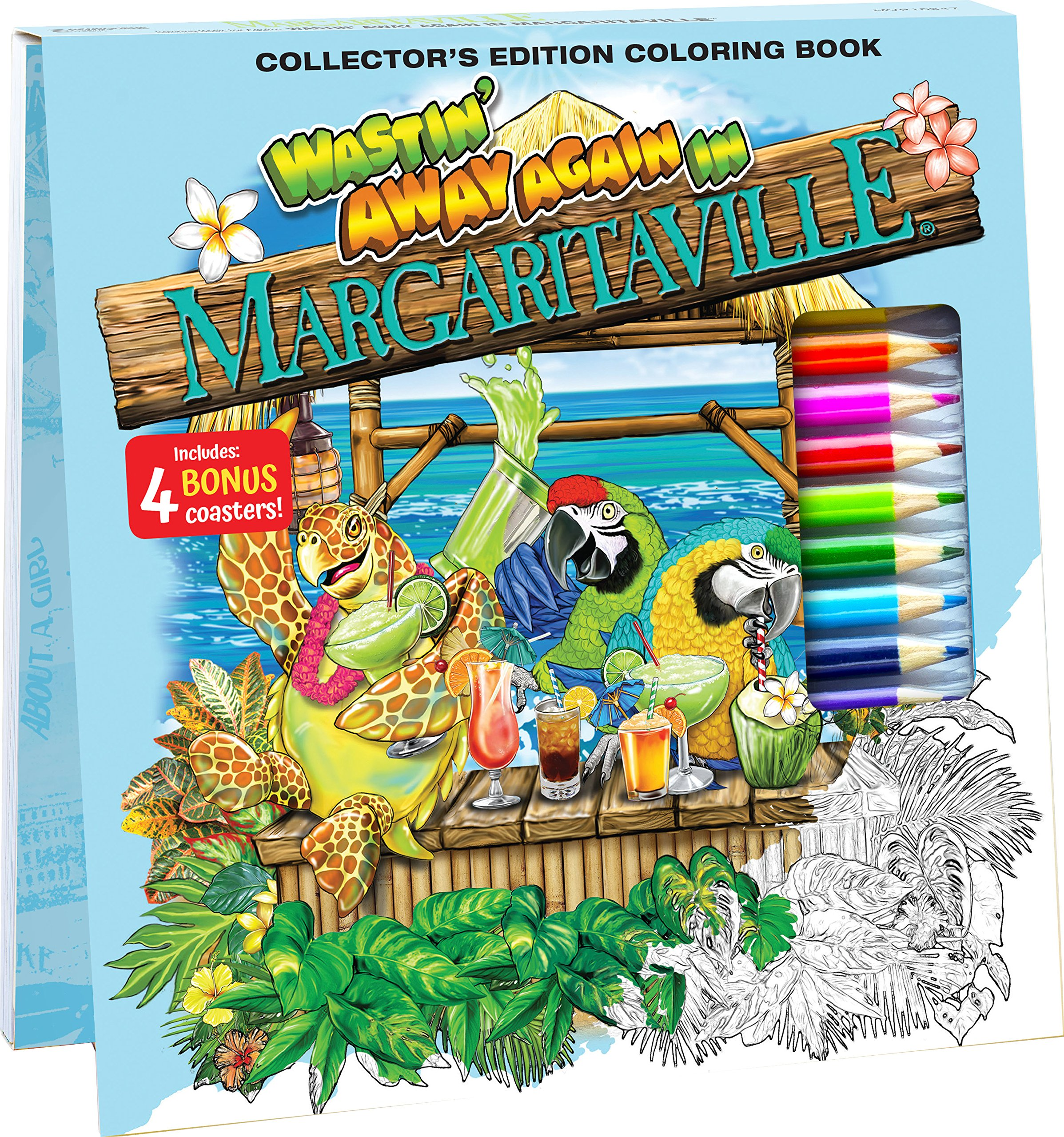 Margaritaville Coloring Book-Wasted Away Again-12 Pencils /& 40 sheets NEW!