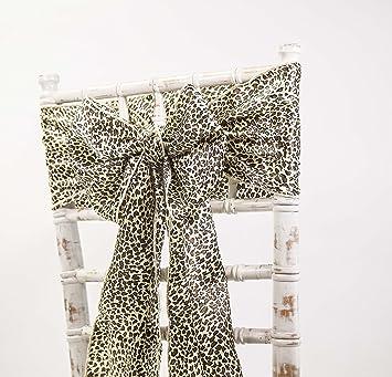 e409234a263a Satin-Schärpen und passende Tischläufer, Dekoration für Hochzeiten /  Veranstaltungen / Partys, in verschiedenen Farben erhältlich Sash Leopard