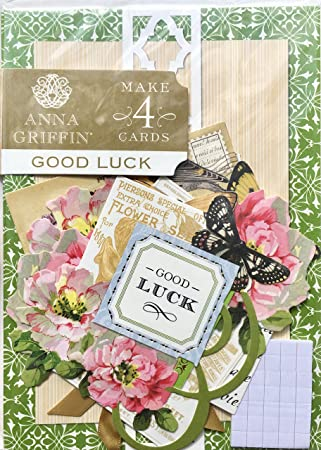 Makes 4 Cards Get Well Painted Cardmaking Kit Anna Griffin SB719