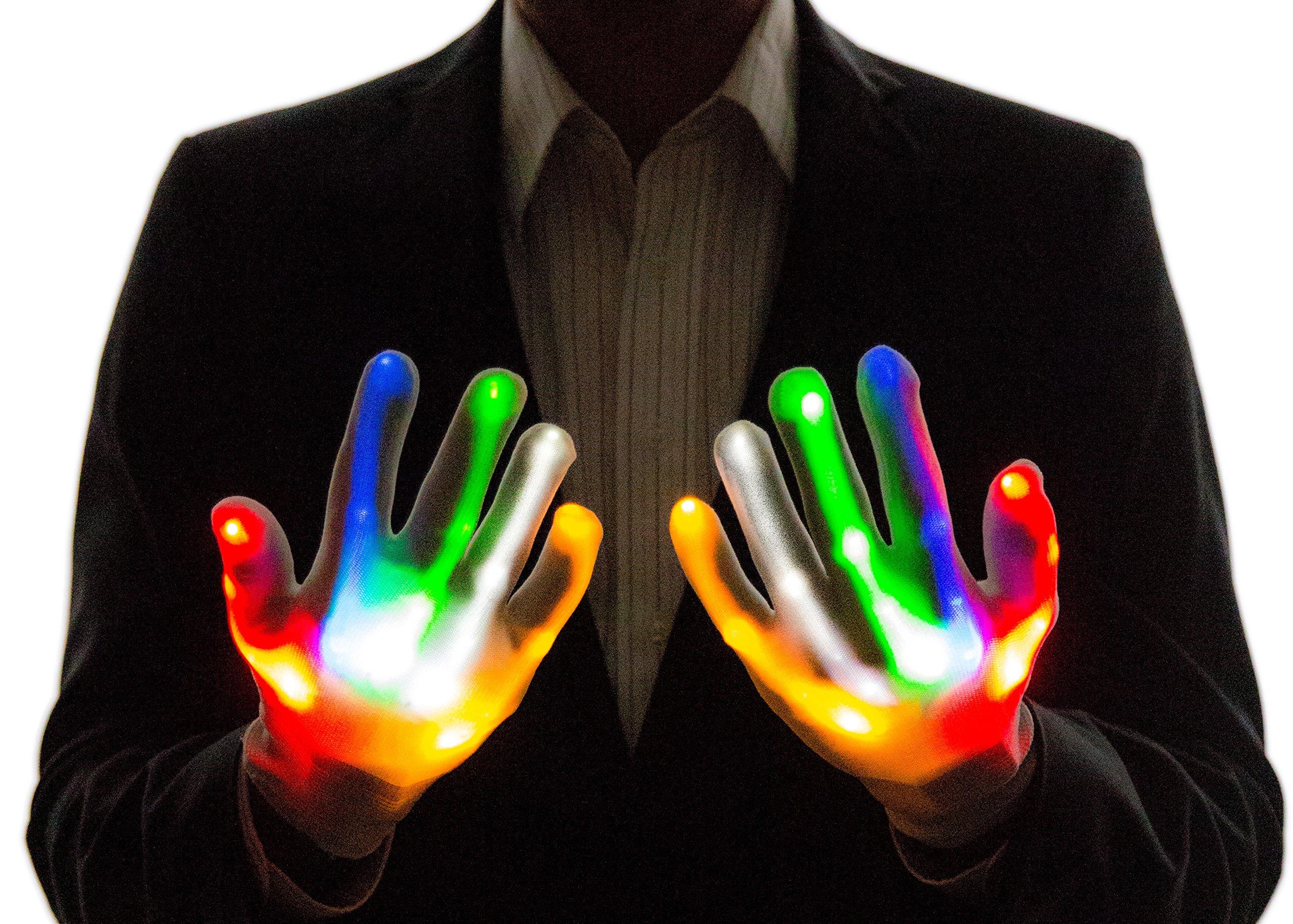 Neon Nightlife Light Up Gloves for Kids, LED, Multicolor