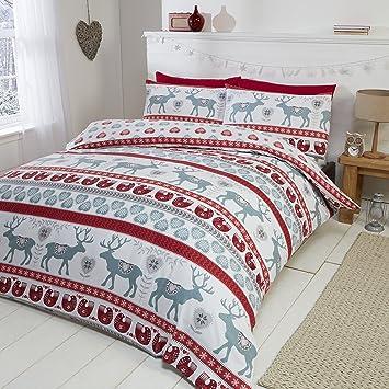 Scandi Weihnachtliche Kinderbettwäsche Mit Nussknacker Muster