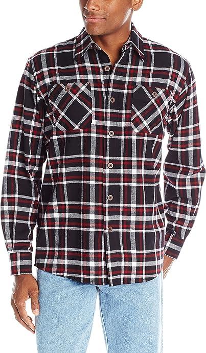 Wrangler 法兰绒格纹 男式长袖衬衫 $18.99 海淘转运到手约¥164 中亚Prime会员可凑单免运费直邮到手约¥150