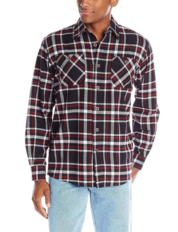 Wrangler Men's Authentics Long-Sleeve Flannel Shirt ZHCXP