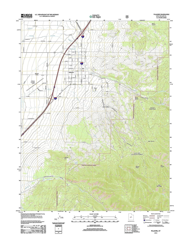 Amazon Com Topographic Map Poster Fillmore Ut Tnm Geopdf 7 5x7 5