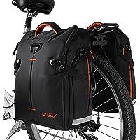 BV Bike Panniers Bags (Pair), Large Capacity, 14 L (each pannier), Black with Detachable Shoulder Straps and All Weather Rain Covers …