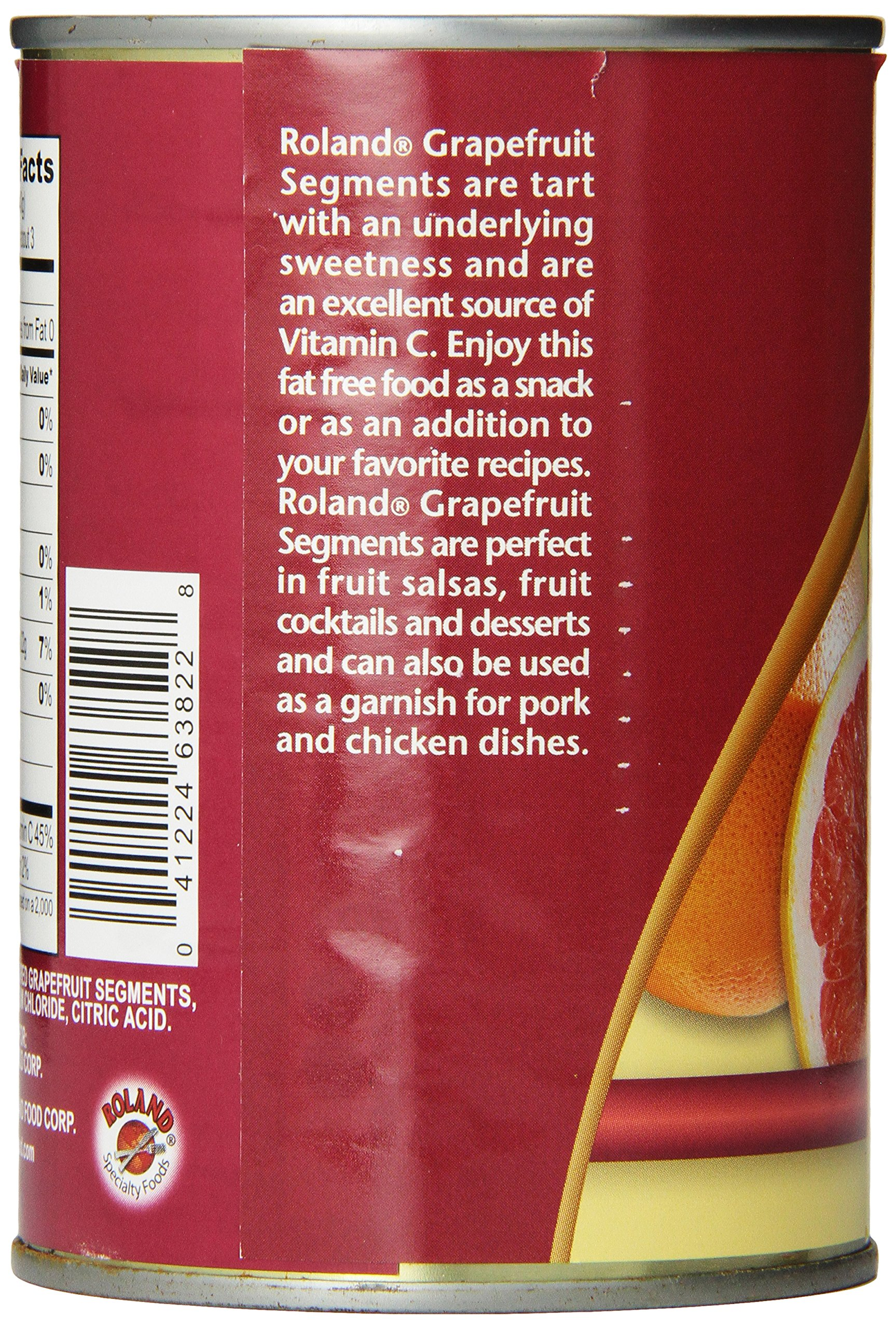 Roland Grapefruit Mix, Segments in Light Syrup, 14.5 Ounce (Pack of 12) by Roland (Image #4)