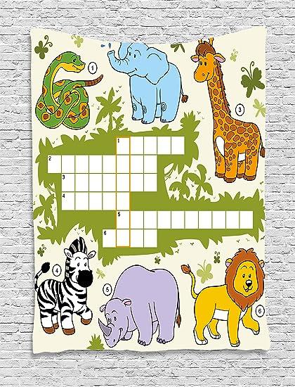 Búsqueda de palabras Puzzle tapiz por Ambesonne ba4796fb430