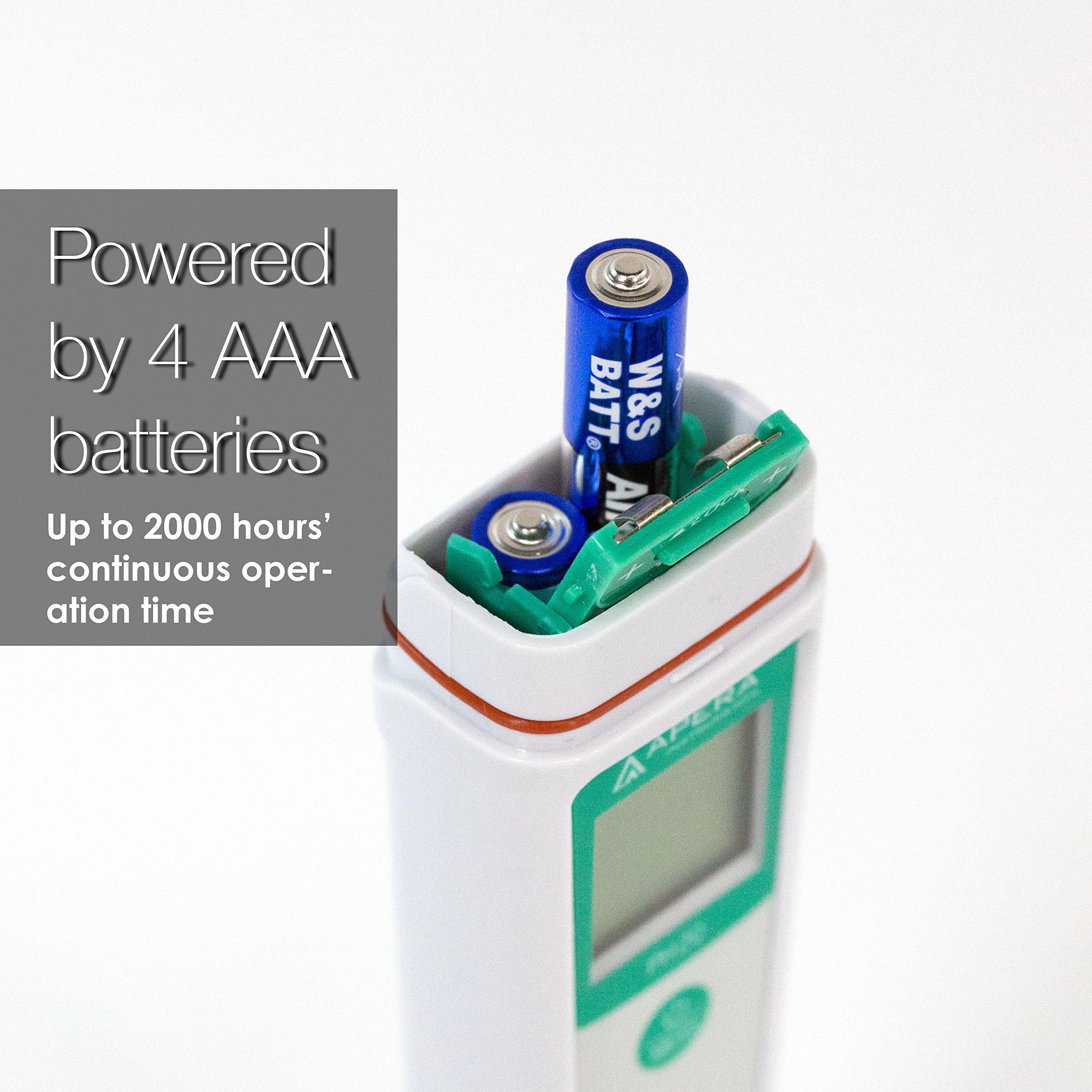 Apera Instruments AI209 PH20 Value Waterproof pH Pocket Tester, ±0.1 pH Accuracy, 0-14.0 pH Range, Complete Kit by Apera Instruments, LLC (Image #6)