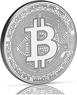 Moneda física de Bitcoin revestida en oro auténtico de 24 ...