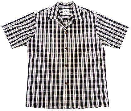 240b81341 Men's Classic Hawaiian Paniolo Palaka Plaid Shirt at Amazon Men's ...