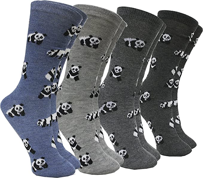 FERETI Calcetines Mujer Motivo Oso Panda Animal En Algodón Azul ...