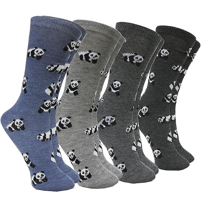 FERETI Calcetines Mujer Motivo Oso Panda Animal En Algodón Azul Gris Invierno: Amazon.es: Ropa y accesorios